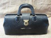 Vintage Lilly Leather And Brass Doctor Bag Antique Bags Old Doctors Nurse 9178