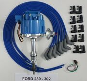 Ford Small Block 289 And 302 Blue Hei Distributor And Universal Spark Plug Wires Usa