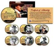 John Wayne Movies 24k Gold Plated Iowa Quarters 6-coin Set Licensed Stagecoach
