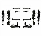 Fits 03-08 Toyota Corolla Front And Rear Complete Struts Control Arms Chassis Kit