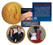 Royal Wedding  William And Kate British Half Penny 24k Gold 2-coin Set