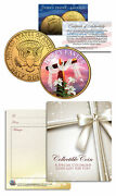Happy Easter Religious Gift Jfk Kennedy Half Dollar Us Coin 24k Gold Plated