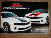 2012 Camaro Ss Zl Supercharged 600/585/560 Factory Original Slp Owners Manual