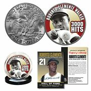 Roberto Clemente Walker 1972 Ike Eisenhower Dollar Colorized Us Coin 3000 Hits