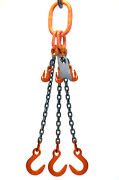 Chain Sling - 3/8 X 10' Triple Leg With Foundry Hook And Adjuster - Grade 80