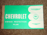1961 Corvette Factory Gm Original Blank Owner Protection Plan Manual Complete