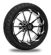 Xtreme Machine Launch Xquisite 17 Rear Wheel 200 Tire Package Harley 09-15 Abs
