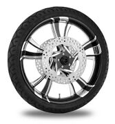 Xtreme Machine Cruise Xquisite 21 Front Wheel Tire Rotor Package Harley 14-15