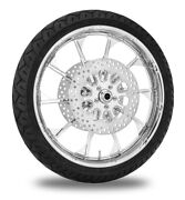 Xtreme Machine Launch Chrome 21 Front Wheel Tire Rotor Package Harley 08-13