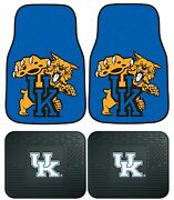 Kentucky Wildcats Uk Floor Mats 2 And 4 Pc Sets For Cars Trucks And Suv's
