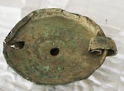 Ancient Egyptian Oil Lamp Tray Very Old Authentic Terracotta Clay Sculpture