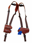 New Burgundy Leather Thumb Break Shoulder Holster W/mag Pouch Kimber Ruger 380 9