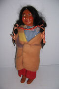 Vintage Skookum Bully Good Indian Woman Doll With Papoose And Beads 10