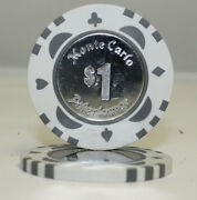 50pcs Monte Carlo Coin Inlay Poker Chips 1