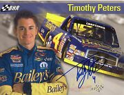 Timothy Peters Autograph Signed Hero Card Photo Autographed Dodge Baileys Truck