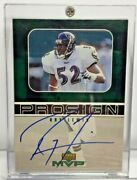 Ray Lewis 1999 Ud Upper Deck Mvp Prosign Pro Sign On-card Auto Baltimore Ravens