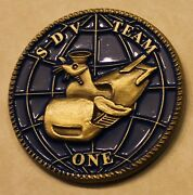 Sub / Seal Delivery Vehicle Team One Sdvt-1 Warrior From Sea Navy Challenge Coin