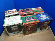Lot Of 6 Budweiser Holiday Stein Collection 1993 1994 1995 1996 1997 1998 [15h]