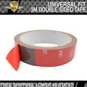3m Double Sided Adhesive Glue Tape With Red Liner 1x Roll For Car Auto