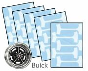 1964-84 Buick Gran Sport Gs Gsx 14 And 15 Rally Wheel Paint Mask Stencil Kit Set