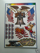 4th Of July Window Clings Holiday Decorations Made In The Usa 5 Sheets