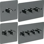 Polished Black Nickel Light Dimmer Switch Flat Plates