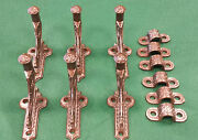 6 Stair Hand Rail Holders Cast Iron Vintage Scarce Decorative Mountng Clips 115