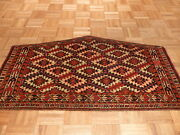 2and0392 X 3and0398 Hand Knotted Antique Yamouth Oriental Rug G1430