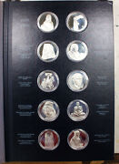 1972 Treasures Of The Louvre 60+ Oz Pure Silver 50 Coin Set First Edition Coa