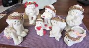 7 Vintage Cast Art Dreamsicles Angels Cherubs Kristin Haynes And03993 And And03994