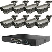 8 Outdoor Long Range Wireless Nightvision Cctv Security Camera System + Dvr