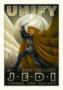 Unify With The Jedi Troop Recruitment Propaganda Star Wars Art Giclandeacutees On Canvas