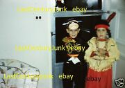 35mm Kodachrome Slide 2 Children In Halloween Outfits Lone Ranger And Tonto