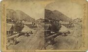 Nevada Continent Stereoscopic Co. Stereoview 1860and039s Main Street Gold Hill Nv