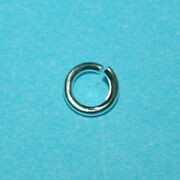 Wholesale Lots 925 Sterling Silver 6.4mm Open Jump Rings 1.2mm 16 Ga Very Thick