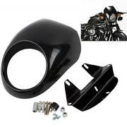 Headlight Fairing Front Cowl Cafe Racer Fit For Harley Sportster Dyna Glide Fx