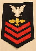 Petty Officer 1st Class Gold Enlisted Pilot Rate Navy Blues Wwii Patch