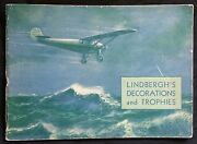 Charles Lindbergh Autograph On Illust. Of Decorations And Trophies Book Pahv456