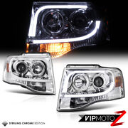 Arctic Optic Chrome 2007-2014 Ford Expedition Drl Neon Tube Headlights Headlamps