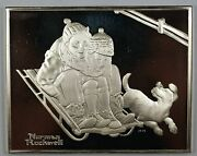 Norman Rockwell's Fondest Memories Fun On The Hill Sterling Silver Proof Medal