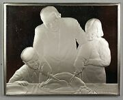 Norman Rockwell Fondest Memories Holiday Dinner Sterling Silver Proof Ingot