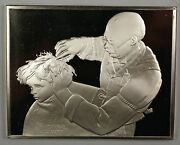 Norman Rockwell Fondest Memories At The Barber Sterling Silver Proof Ingot