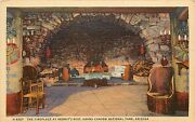 Fred Harvey Linen Postcard Fireplace Hermitand039s Rest Grand Canyon Az Unposted