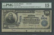 Fr631 Ch 2204 Arcola Ill. Natand039l Note W/ Full Selvage Marking Ext Rare Wl9379