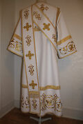 White Proto Deacon's Orthodox Vestment Embroidered To Order