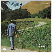 Neil Young Signed Old Ways Record Album Psa/dna Z57340