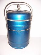Vintage Large Metal Food Thermos Cooler Container Canister 13 Tall X 9 Dia