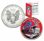 Buffalo Bills 1 Oz American Silver Eagle 1 Us Coin Colorized Nfl Licensed