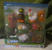 Fisher Price Little People Farm Barn New Animal Friends Baby Pig Bunny Duck Cat