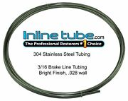 Stainless Steel Brake Line Tubing Kit 3/16 Od 20 Foot Coil Roll An 45 Flare Usa